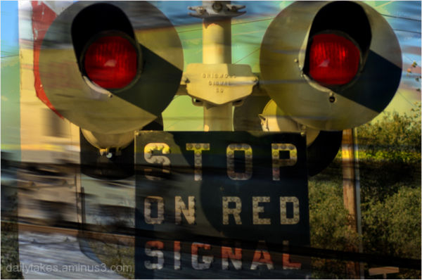 stop on red signal ....