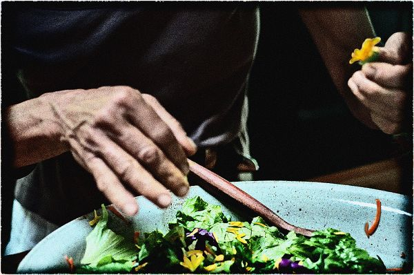 salad with flower power  . . .