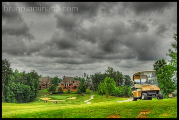 HDR, GOLF, CART, CLOUDS, SPORTS