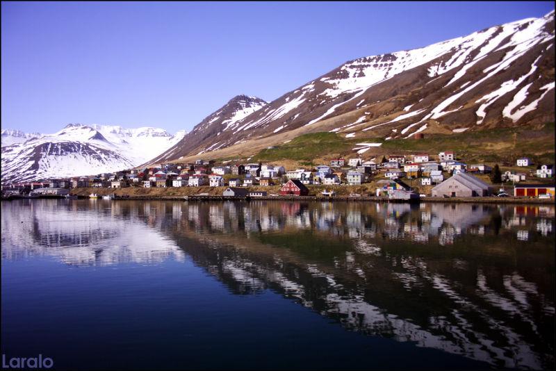 Siglufjördhur, mountain, fjörd, iceland