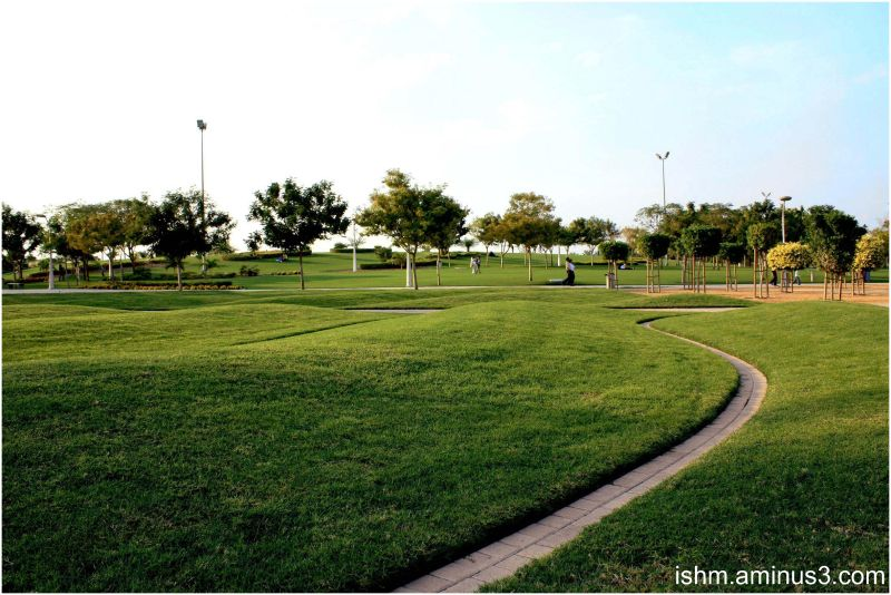 zabeel park in late afternoon