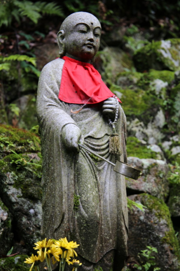 Jizo gives us blessed water