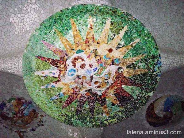 mosaic verdós Park Güell