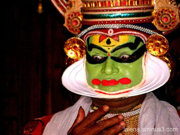 Dansaire de Kathakali a Kerala