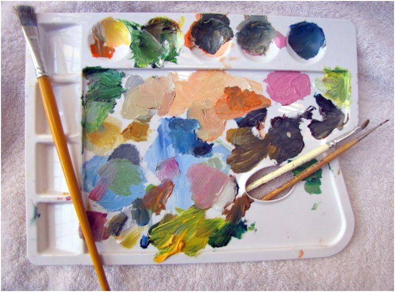 Colors brush palette
