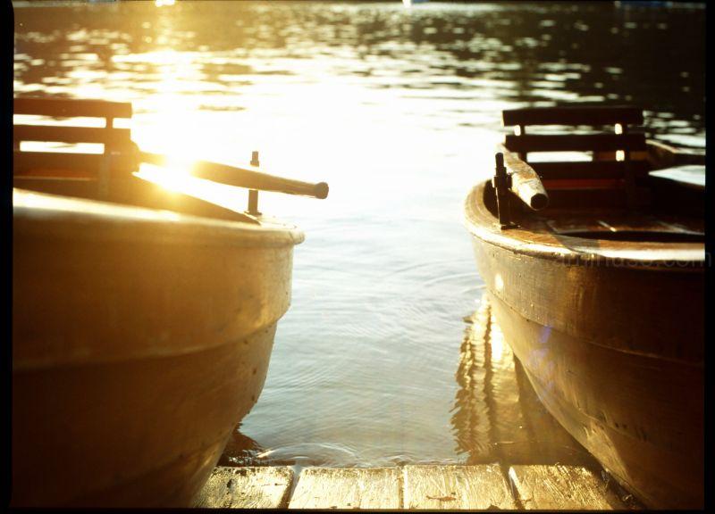 Munich, Kleinhesselohersee, lake, boat, mf, lux
