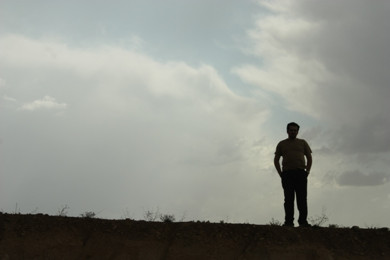 A man standing on the hill