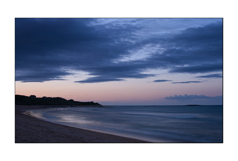 sunset at embleton beach UK
