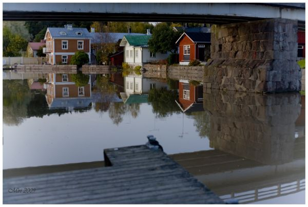reflections on water, Finland, Porvoo
