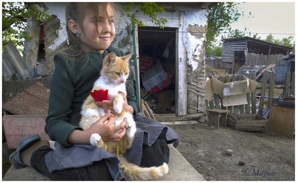 Katya and her cat