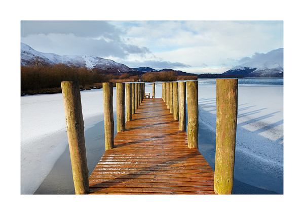 derwentwater jetty in winter