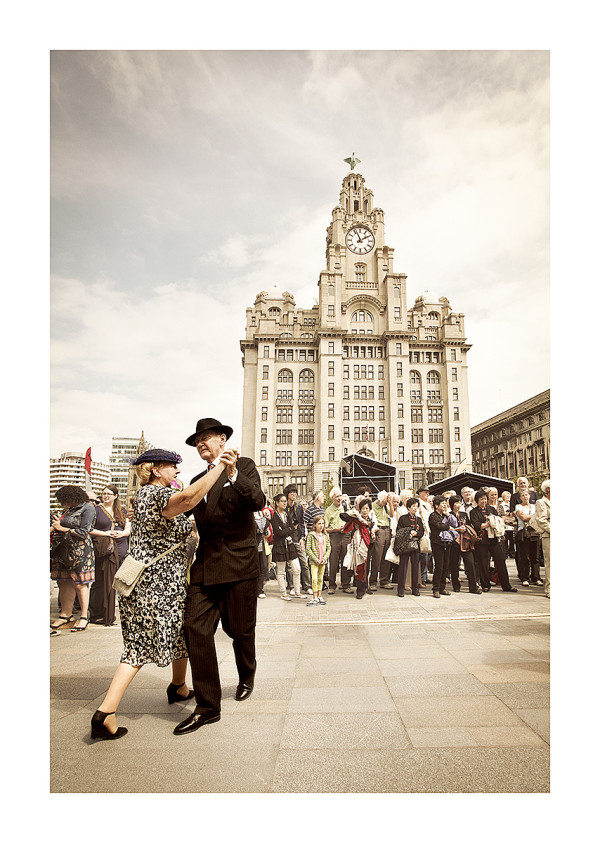 dance festival outside liverpool liver building