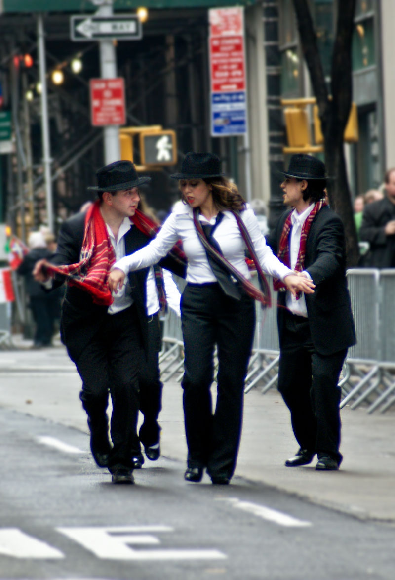 New-york ny nyc dance parade men lady female male