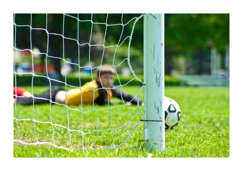 soccer, football, ball post