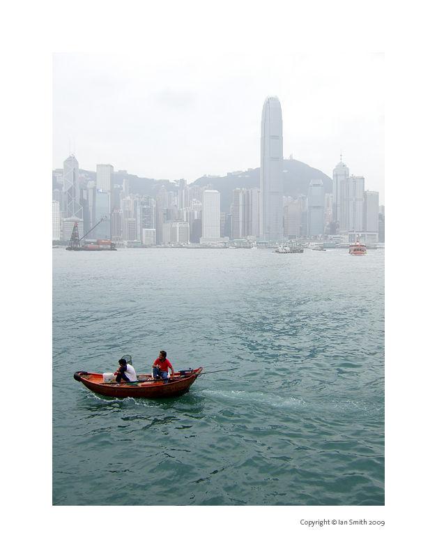 Small fishing boat Hong Kong
