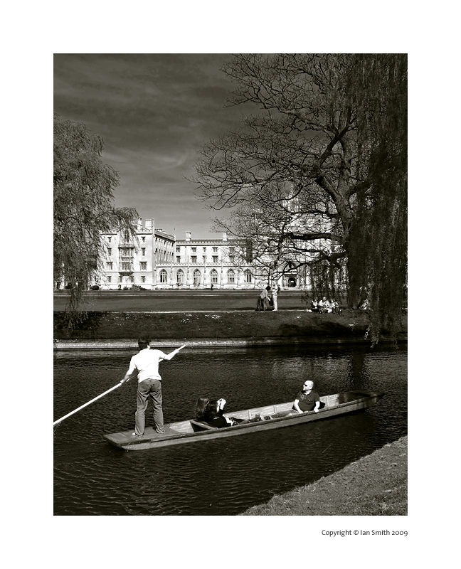 Boating on the River Cam, Cambridge