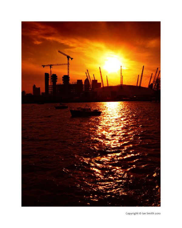 London O2 Sunset