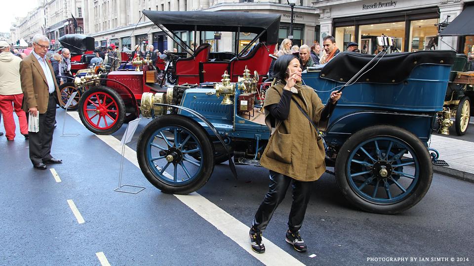 Girl taking a selfie in London