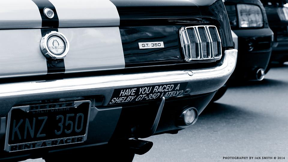 Rear end of Ford Mustangs in London
