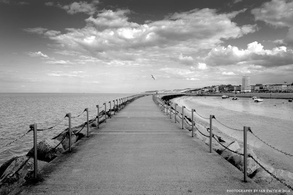 On the breakwater at Herne Bay, Kent