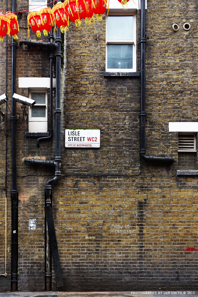 Lisle Street Sign and Wall, London