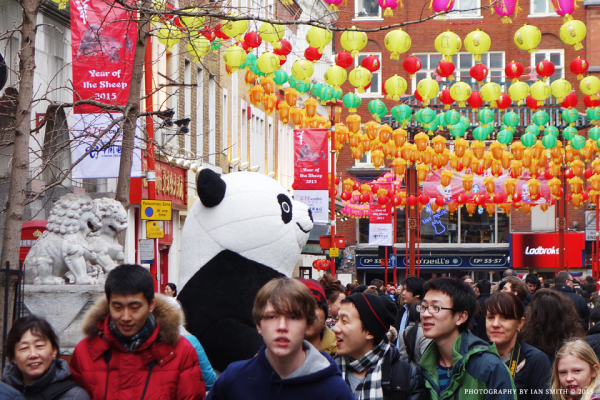 Giant Panda in London Chinatown