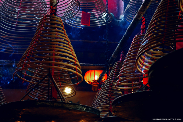 Hanging incense in Man Mo Temple, Hong Kong