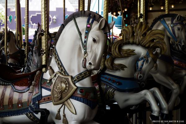 Merry go round horses at Hong Kong Disneyland