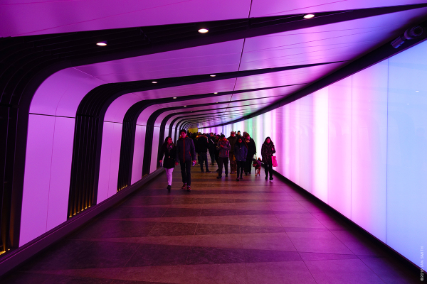Inside King's Cross Tunnel