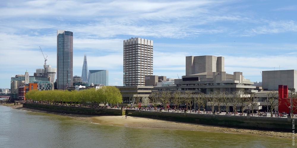 Thames view from Waterloo Bridge
