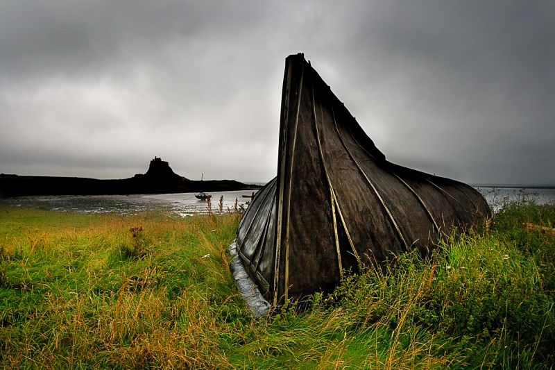 boatsheds on Holy Island