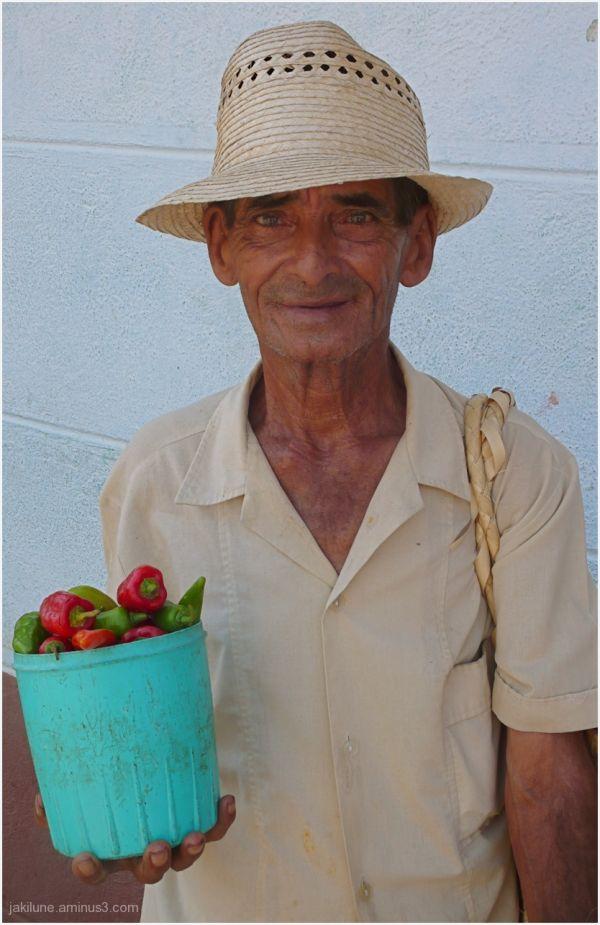 Le vendeur de poivrons