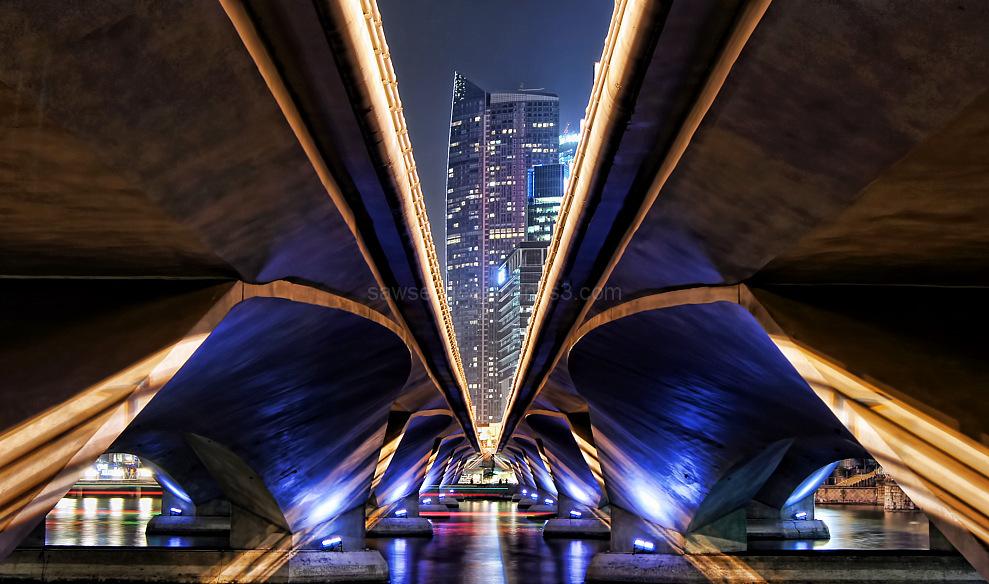 singapore marina bay bridges nightview