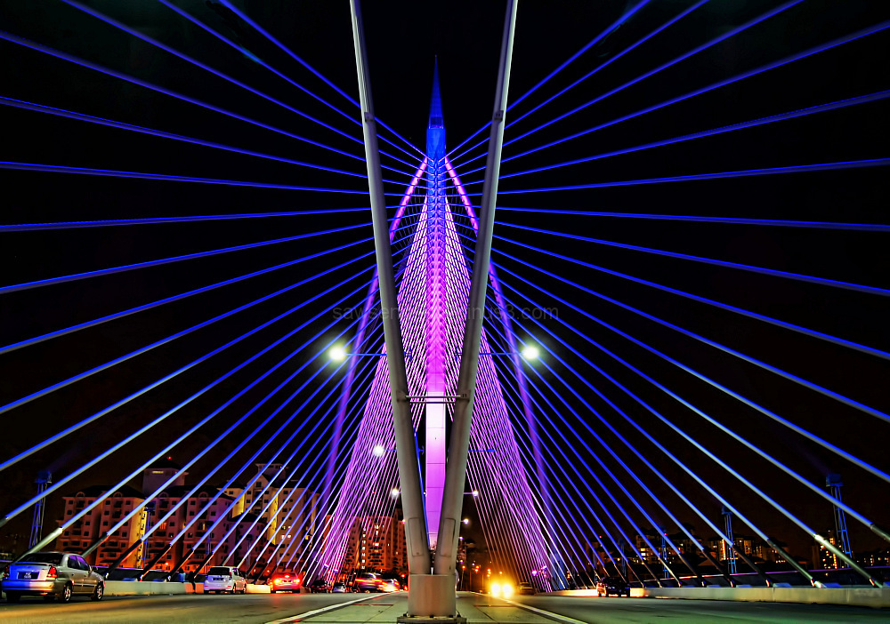 Sri Wawasan bridge Putrajaya nightview perspective