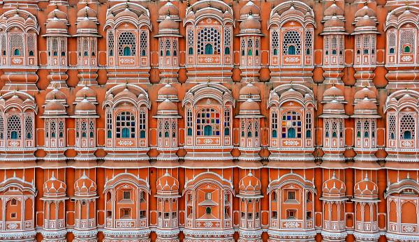 hawa mahal jaipur rajasthan pink terracotta facade