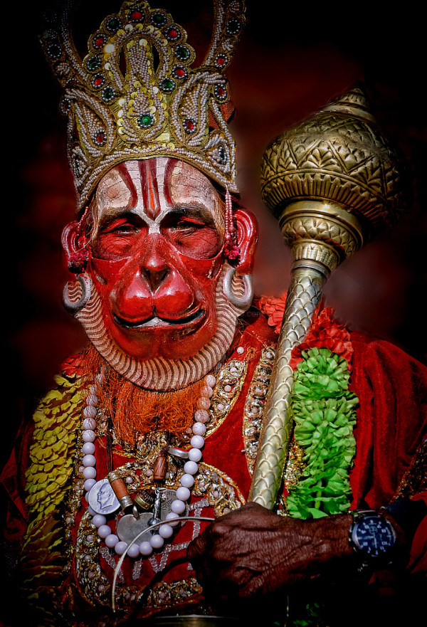 mendicant portrait Kathmandu Nepal Hanuman
