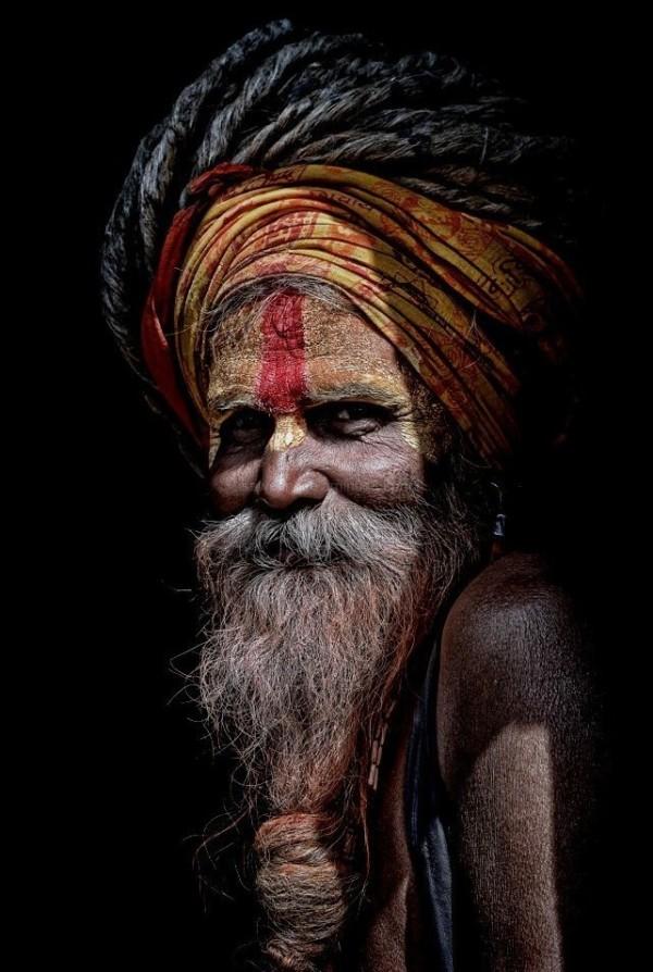 hindu sadhu Kathmandu Nepal portrait
