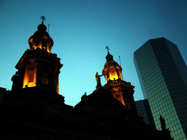 la catedral de santiago al atardecer