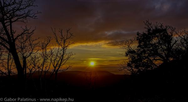 sunset over Pilis-tető