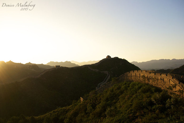 Sunrise at the Great Wall of China
