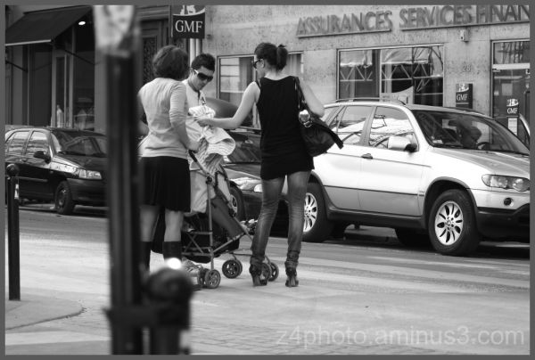 streetphotography in paris black and white