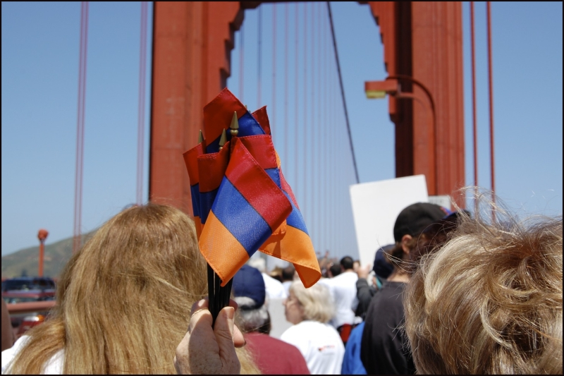 Protester's of Armenian Genocide Denial 2010