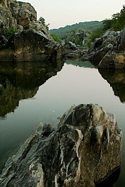 A rocky composition