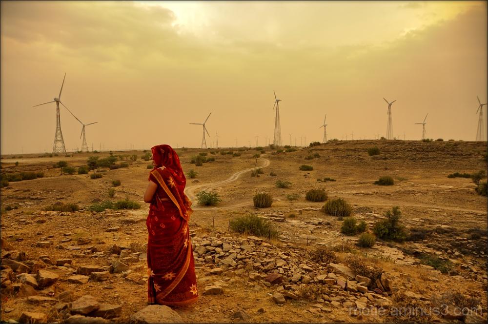 Rajasthan portrait landscape