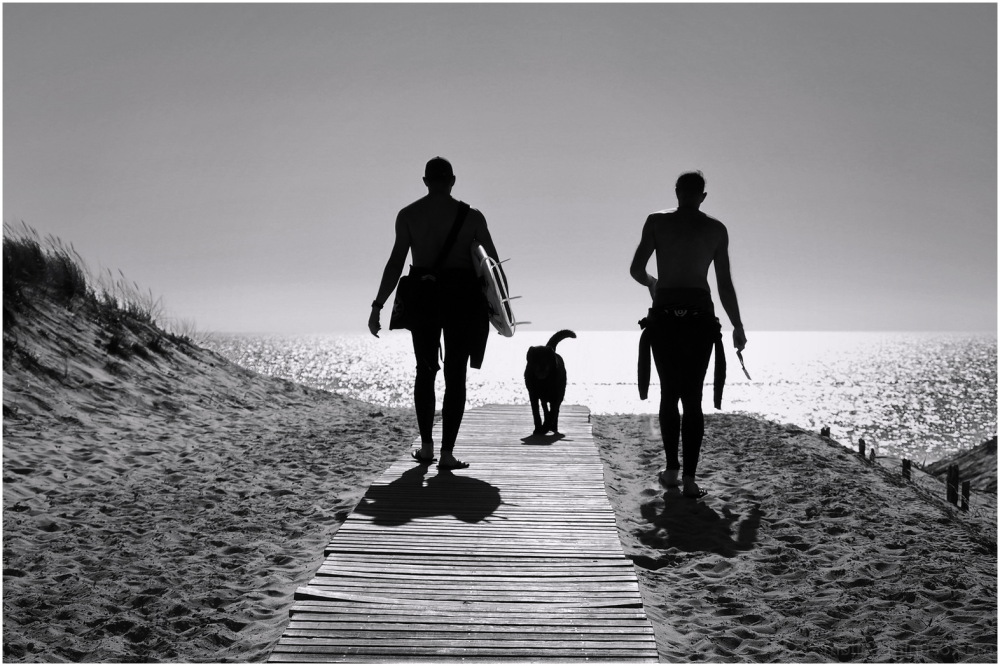 To the beach....2