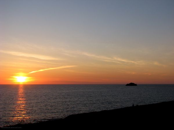 Sunset Off Daymer Bay Cornwall