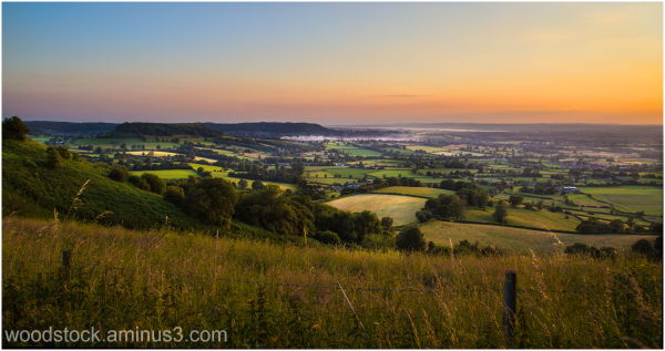 The view from Frocester Hill over the Severn Vale