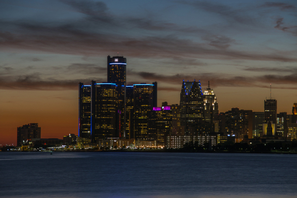 Straits of Detroit; 8:35pm