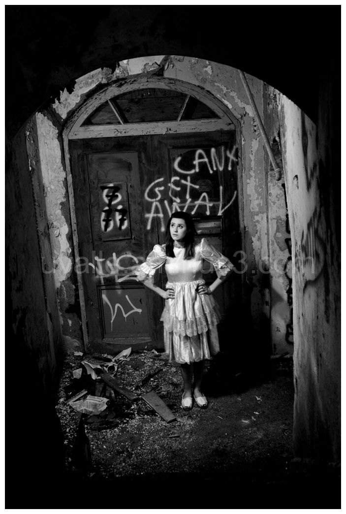 an abandoned insane asylum