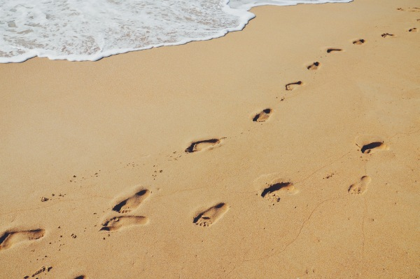 Footprints on the beach @ Sanya